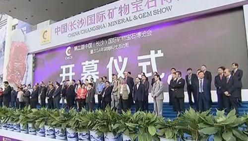 第二届中国(长沙)国际矿物宝石博览会开幕