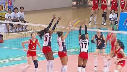 国际女排精英赛郴州站开赛 中国队3:0胜多米尼加队
