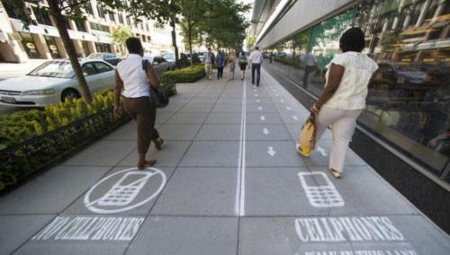 禁用手机的街道