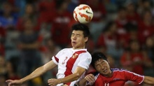 2015年亚洲杯小组赛最后一轮 中国队2:1胜朝鲜队