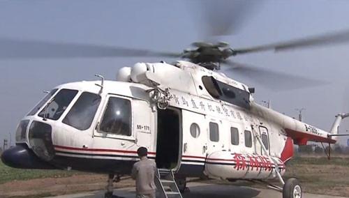 米171直升机森林防火巡航