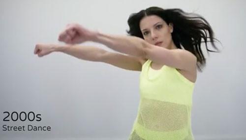 100秒展示100年来女性的健身方式