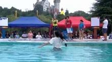 绳斗士20150927期:美女落水奉献水上芭蕾