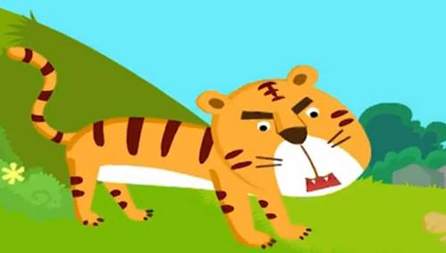 拼音儿歌 第25集 老虎和灰兔