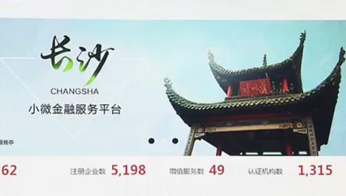 长沙小微金融服务平台正式上线