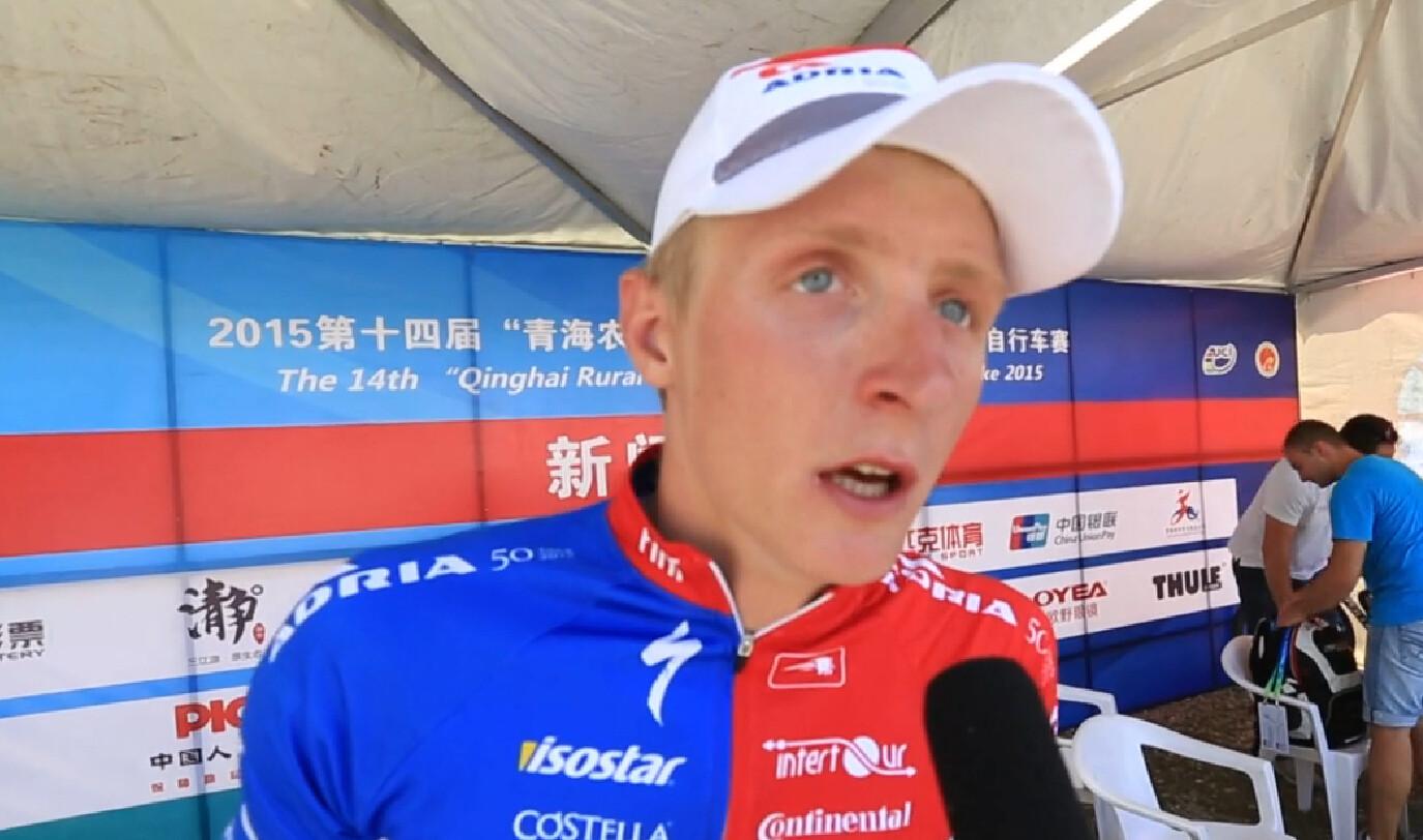 2015环青海湖国际公路自行车赛:第六赛段冠军赛后采访