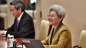 十二届全国人大五次会议新闻发布会 傅莹答中外记者问